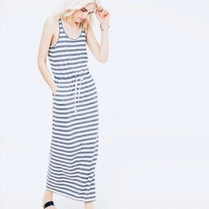 {Lou & Grey} Sandy Striped Drawstring Maxi Dress